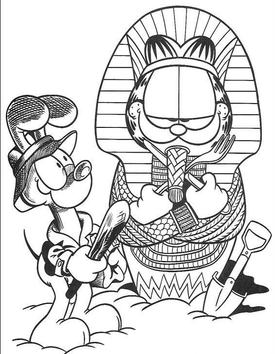 Coloriage garfield gratuit - dessin a imprimer #182