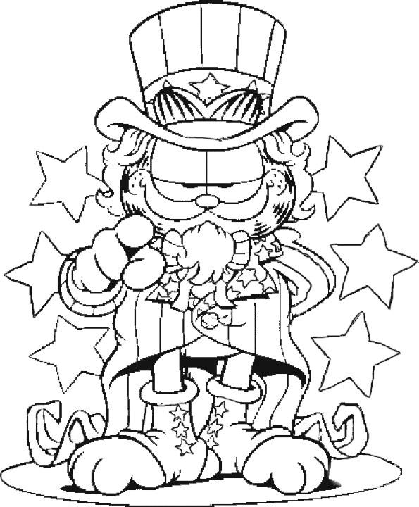 Coloriage garfield gratuit - dessin a imprimer #249