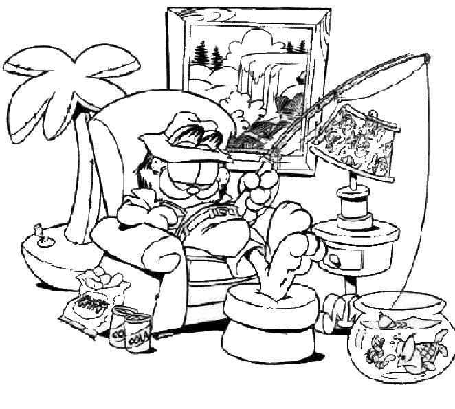 Coloriage garfield gratuit - dessin a imprimer #45