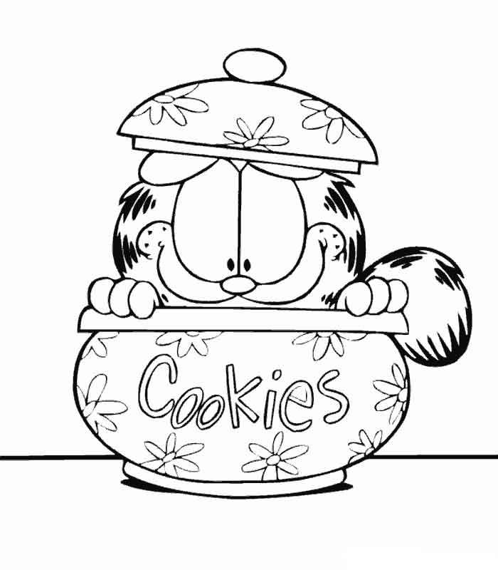 Coloriage garfield gratuit - dessin a imprimer #97