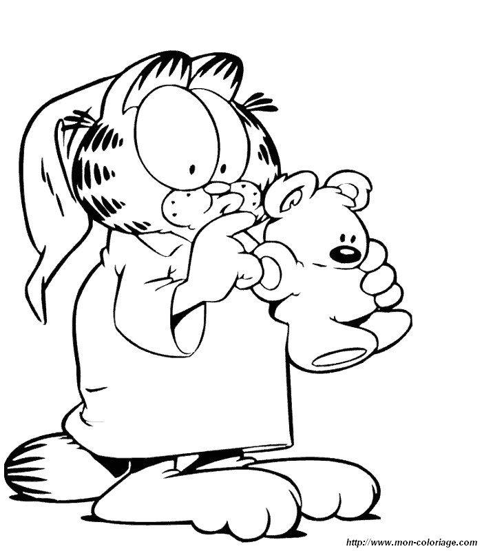 Coloriage garfield gratuit - dessin a imprimer #99