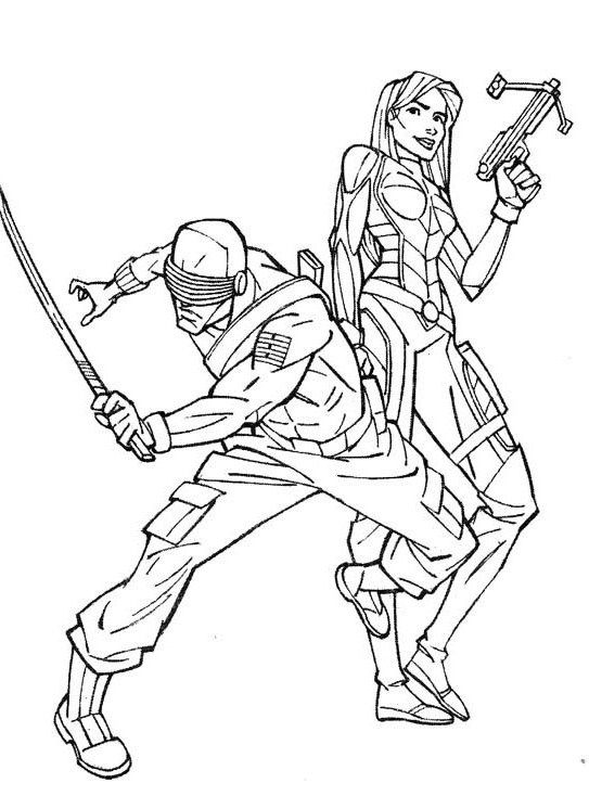Image #24505 - Coloriage gi joe gratuit