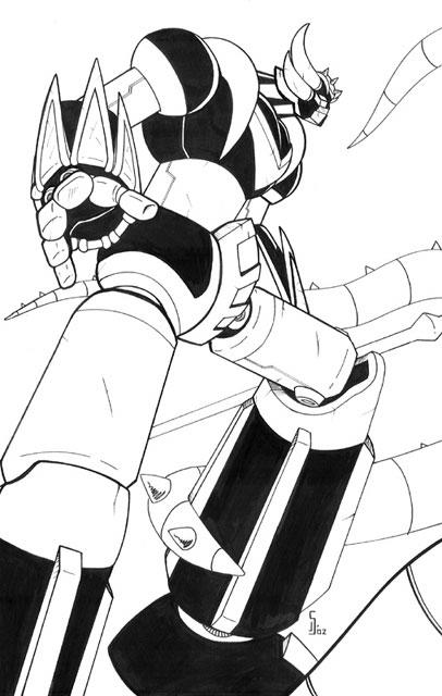 grendizer par ragelion par robot japan