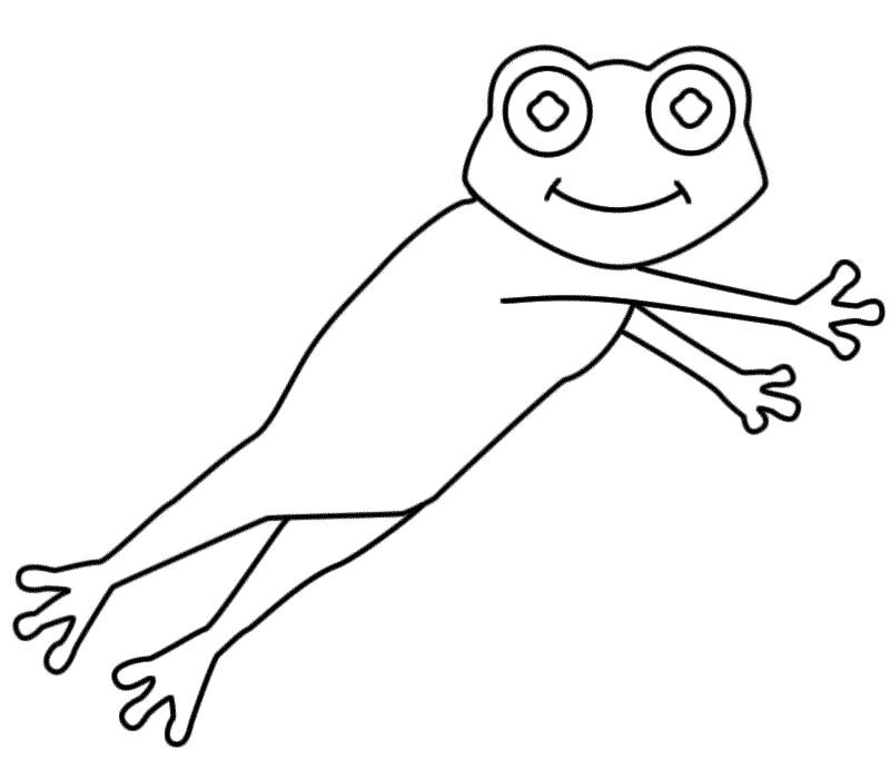 leaping grenouille dessin à colorier (leap day)