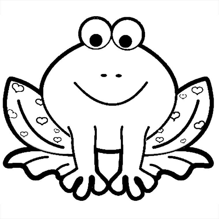 coloriage grenouille à coeurs pour imprimer le coloriage grenouille