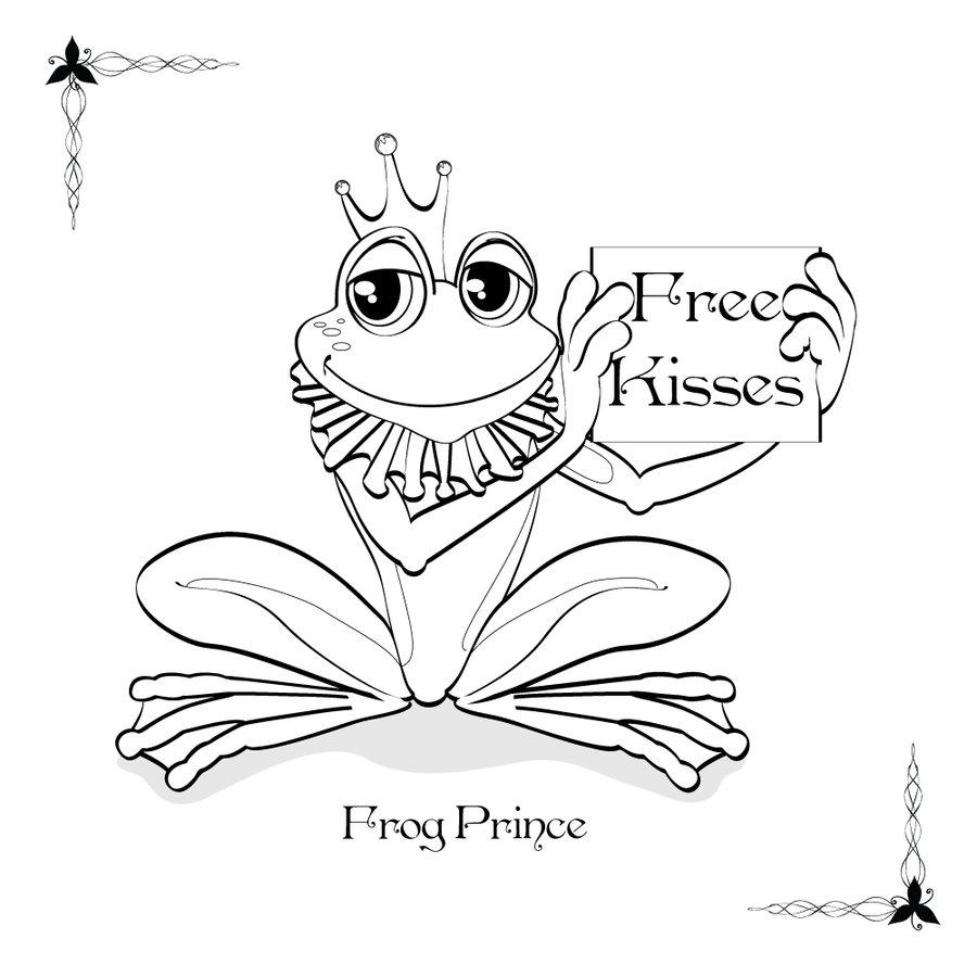 frog prince dessins à colorier