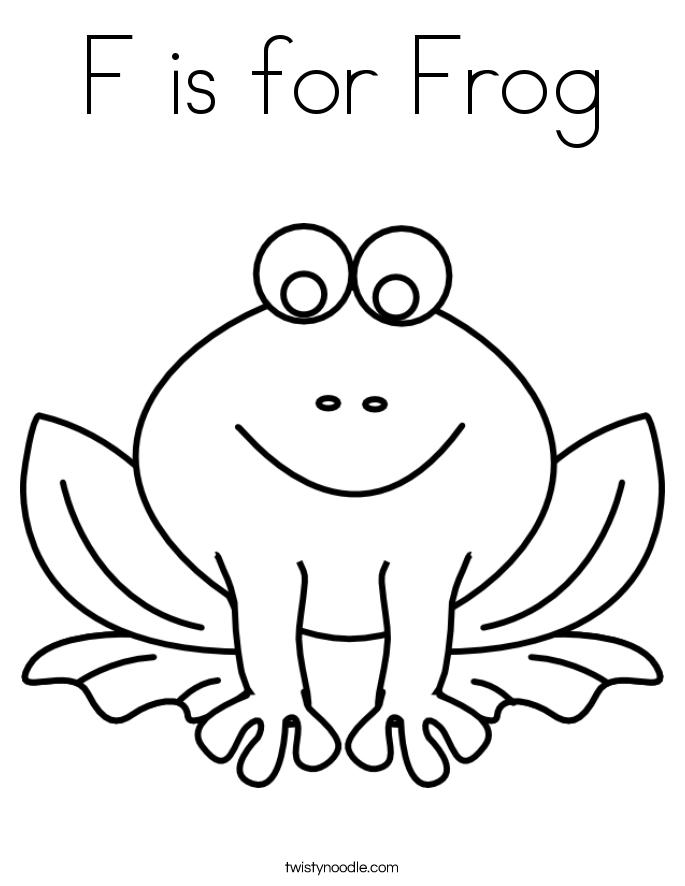 is for frog dessin à colorier twisty noodle