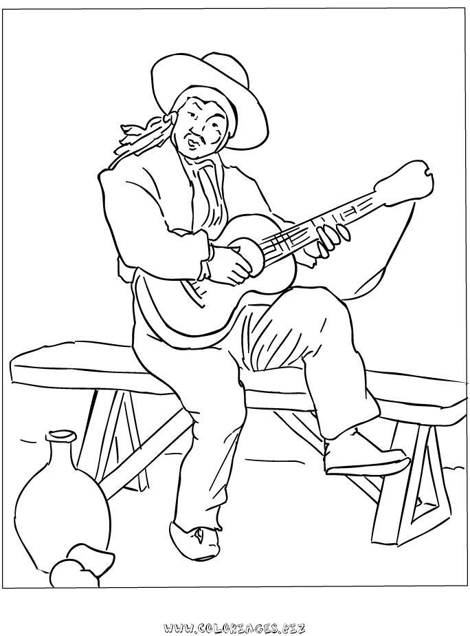 34 dessins de coloriage guitariste imprimer sur - Coloriage image ...