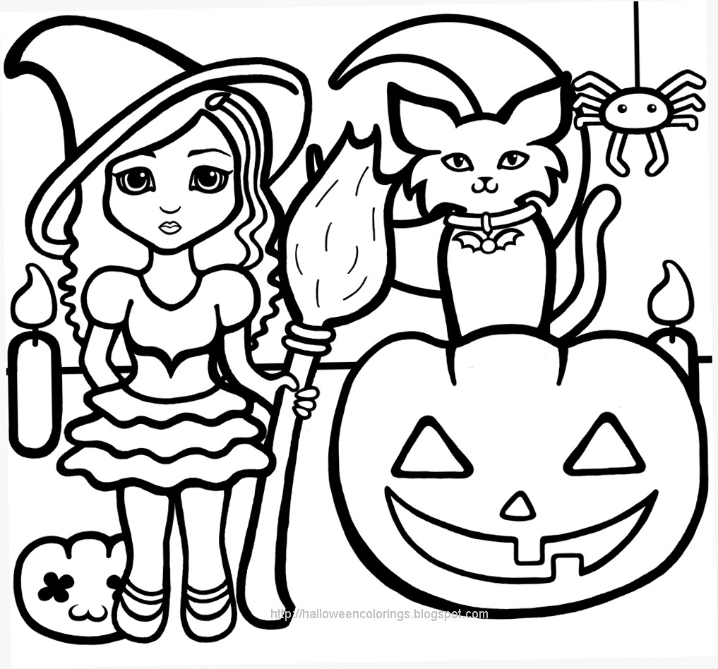 S lection de dessins de coloriage halloween imprimer sur - Coloriages d halloween ...