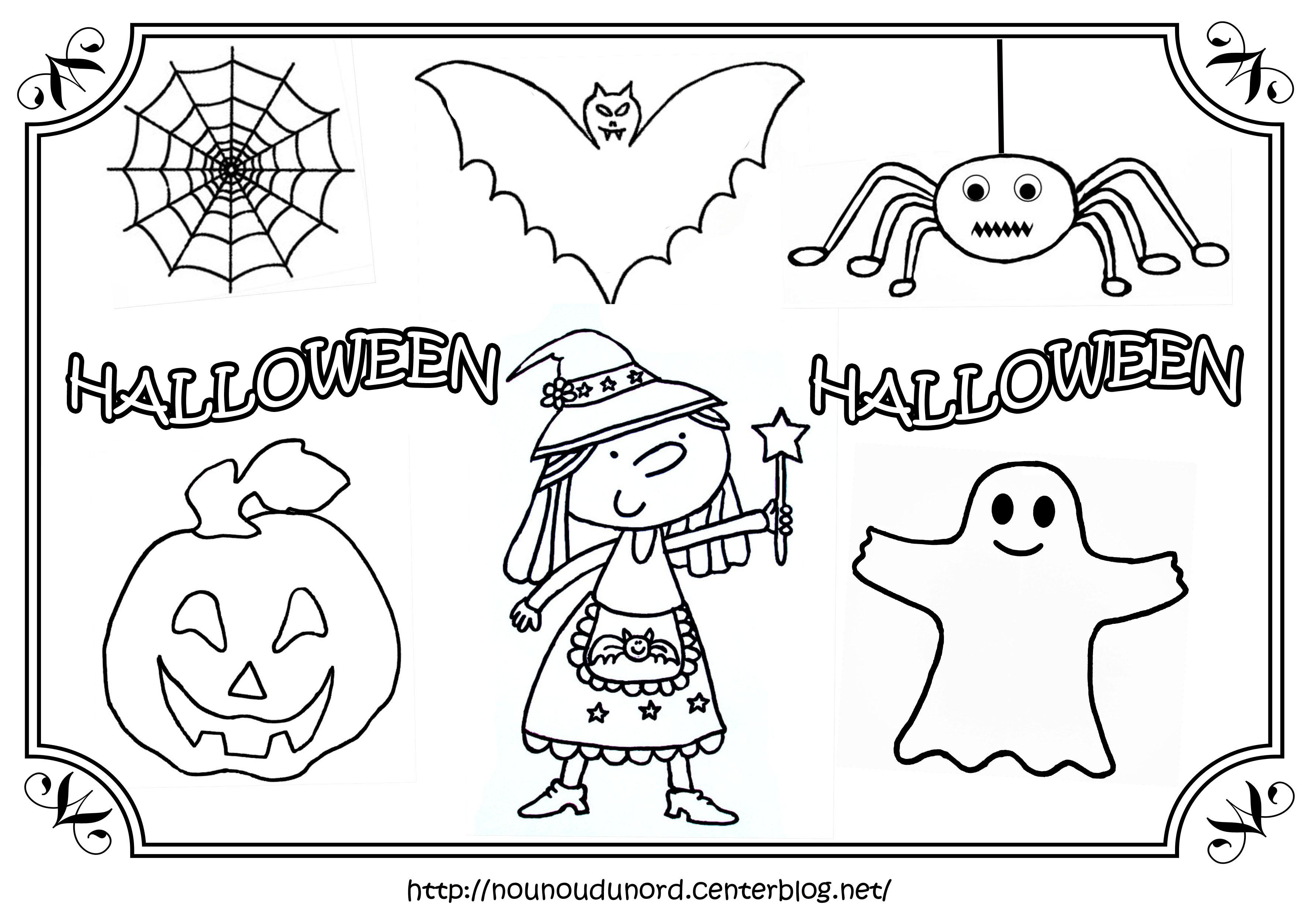 s lection de dessins de coloriage halloween imprimer sur. Black Bedroom Furniture Sets. Home Design Ideas