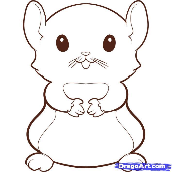 sélection de coloriage hamster à imprimer sur laguerche