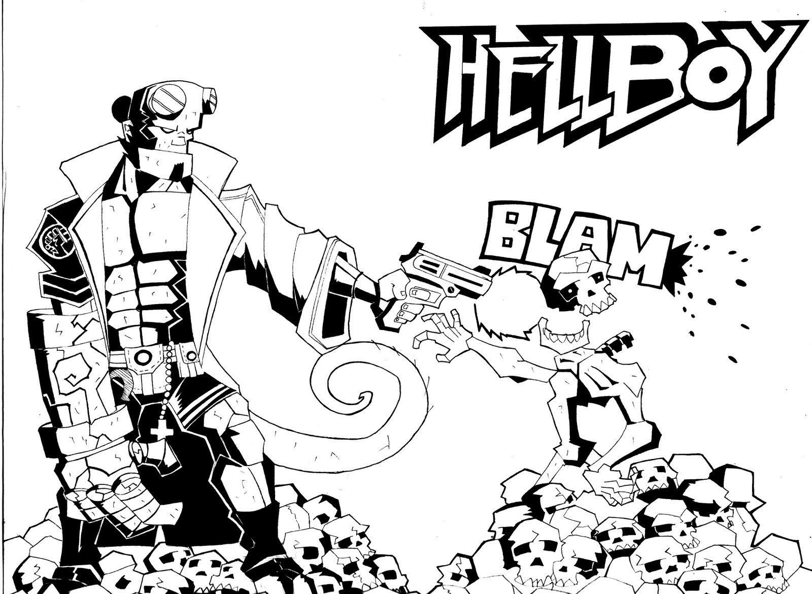 Coloring Pages Hellboy Coloring Pages hellboy coloring pages eassume com top images