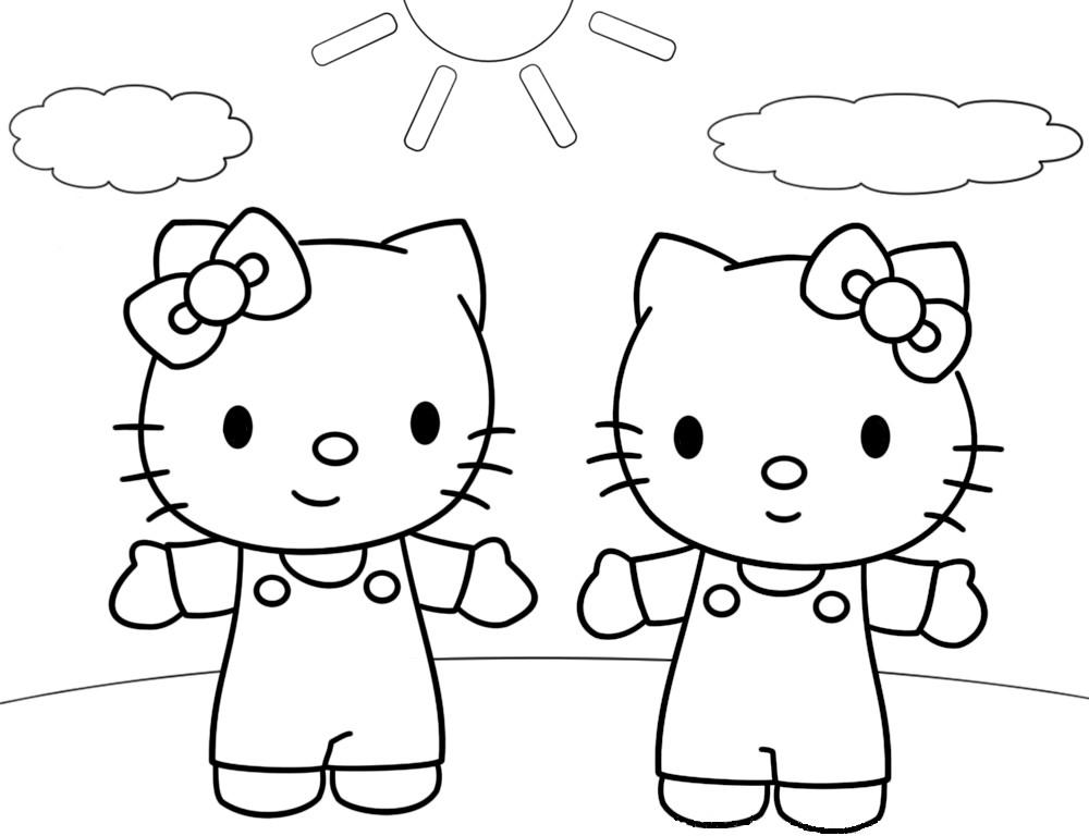 Coloriage hello kitty gratuit - dessin a imprimer #119