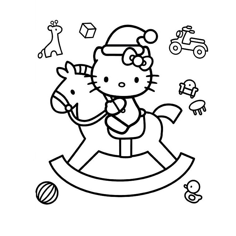 Coloriage hello kitty gratuit - dessin a imprimer #121