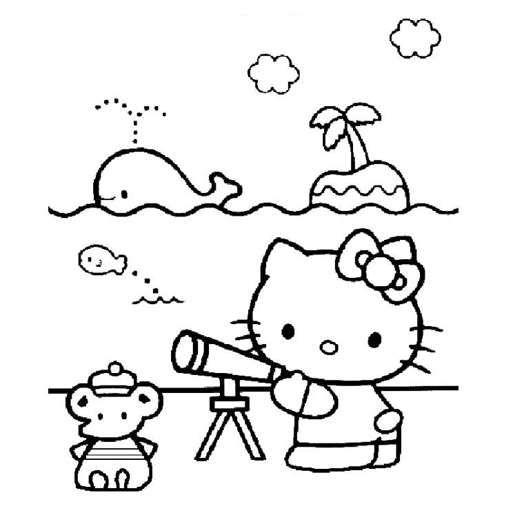 Coloriage hello kitty gratuit - dessin a imprimer #123