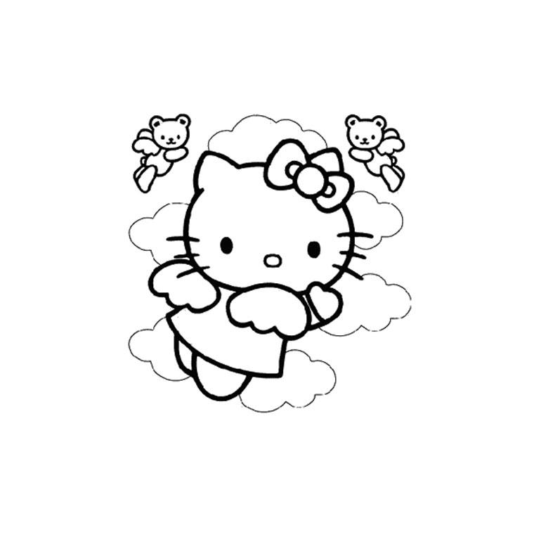 Coloriage hello kitty gratuit - dessin a imprimer #124