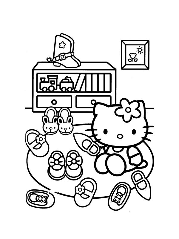 Coloriage hello kitty gratuit - dessin a imprimer #126