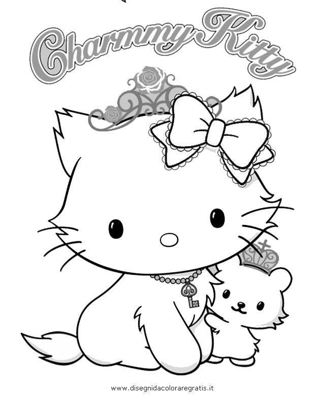 Coloriage hello kitty gratuit - dessin a imprimer #127