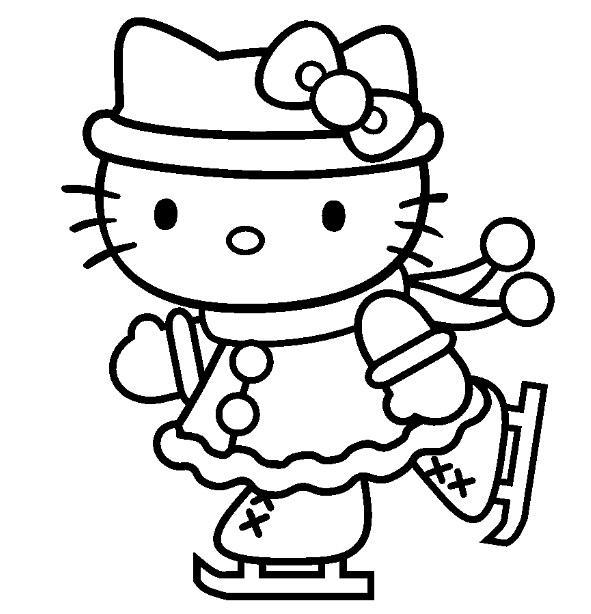 Coloriage hello kitty gratuit - dessin a imprimer #128