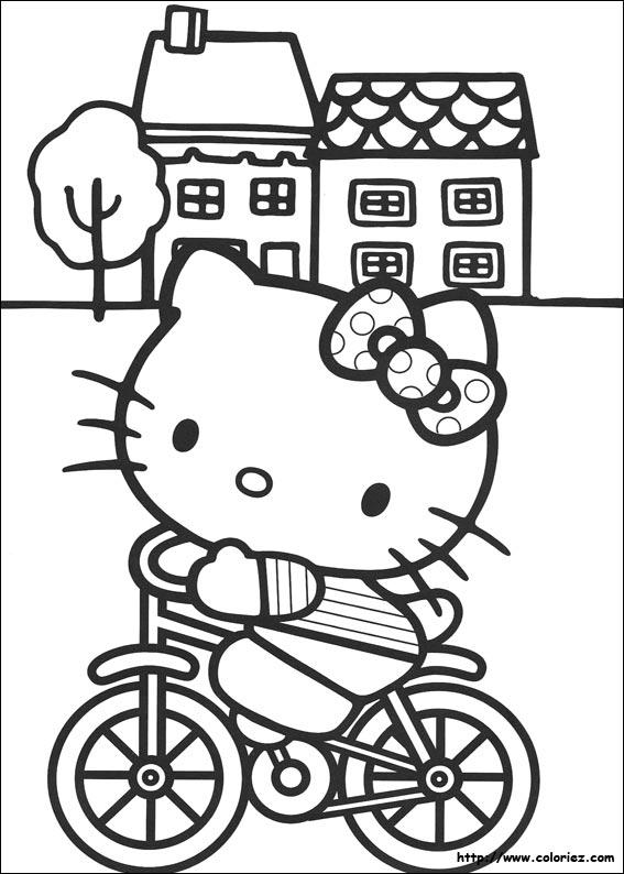 Coloriage hello kitty gratuit - dessin a imprimer #13