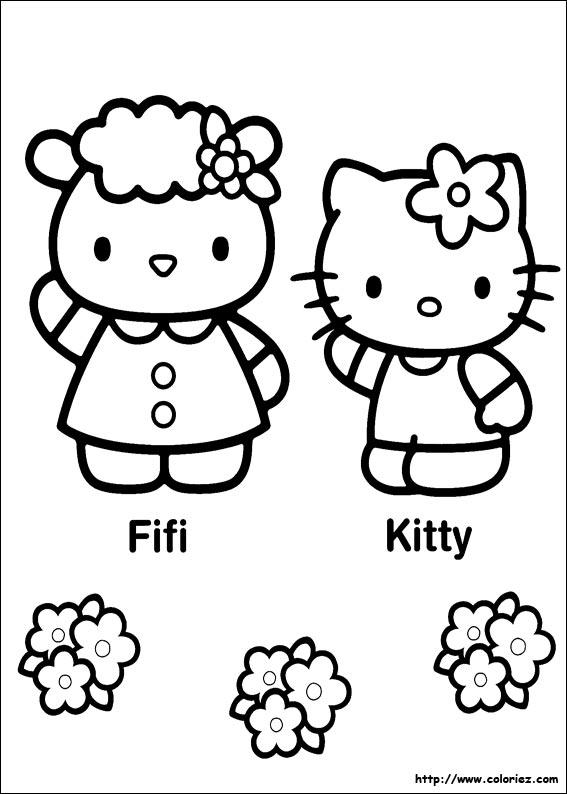 Coloriage hello kitty gratuit - dessin a imprimer #133