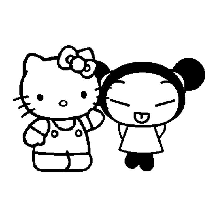 Coloriage hello kitty gratuit - dessin a imprimer #135