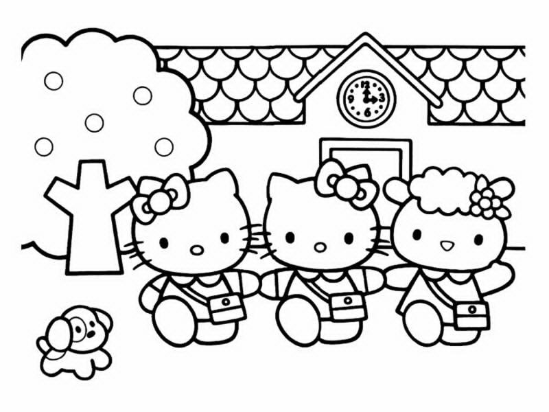 Coloriage hello kitty gratuit - dessin a imprimer #14