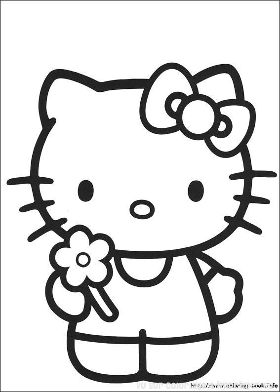 Coloriage hello kitty gratuit - dessin a imprimer #143