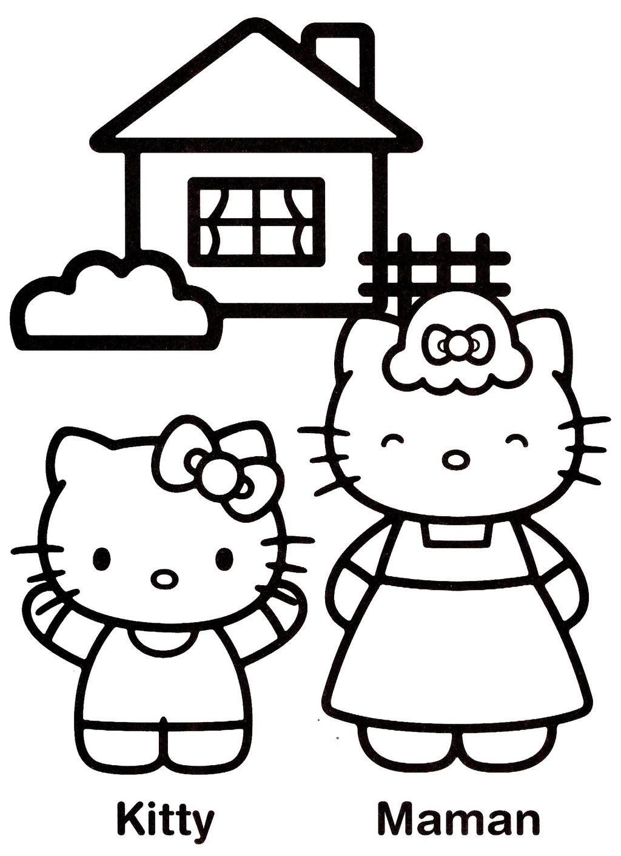 Coloriage hello kitty gratuit - dessin a imprimer #147