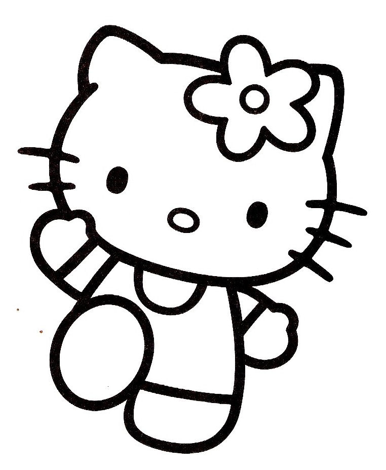Coloriage hello kitty gratuit - dessin a imprimer #15