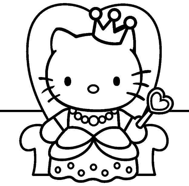 Coloriage hello kitty gratuit - dessin a imprimer #17