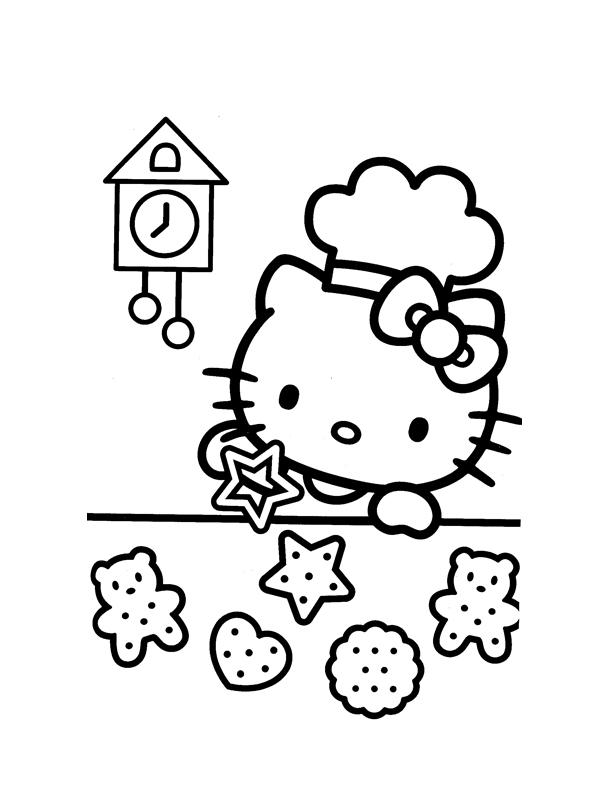 Coloriage hello kitty gratuit - dessin a imprimer #172