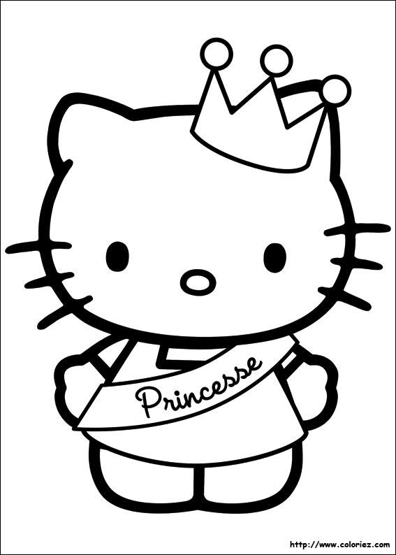 Coloriage hello kitty gratuit - dessin a imprimer #177