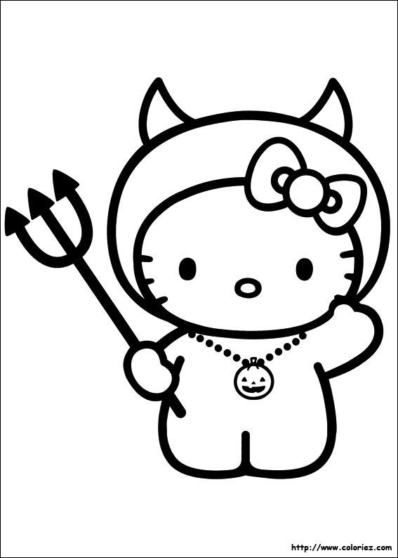 Coloriage hello kitty gratuit - dessin a imprimer #179