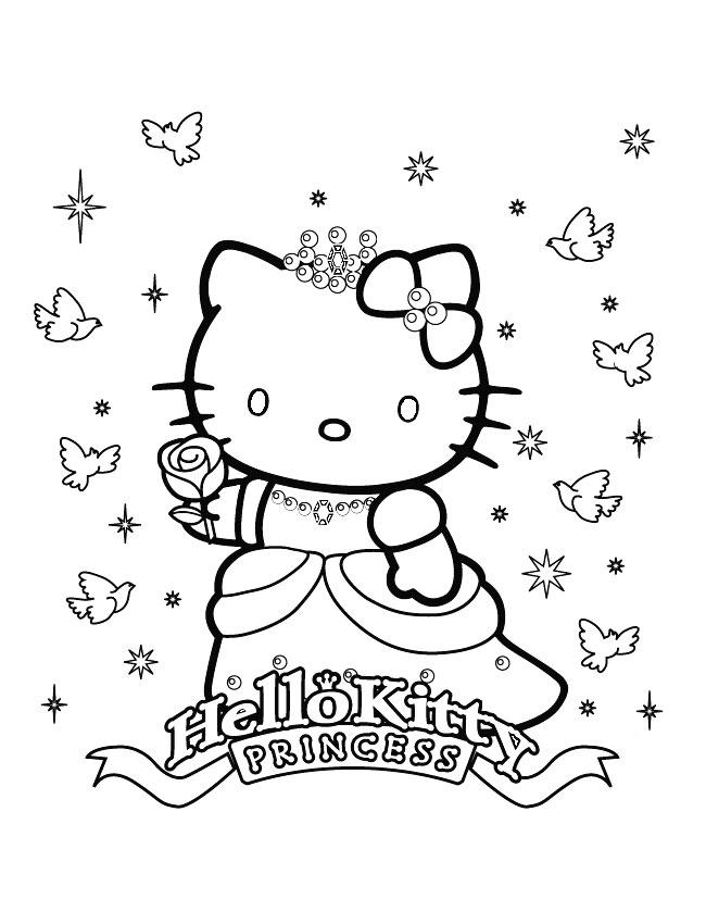 Coloriage hello kitty gratuit - dessin a imprimer #21