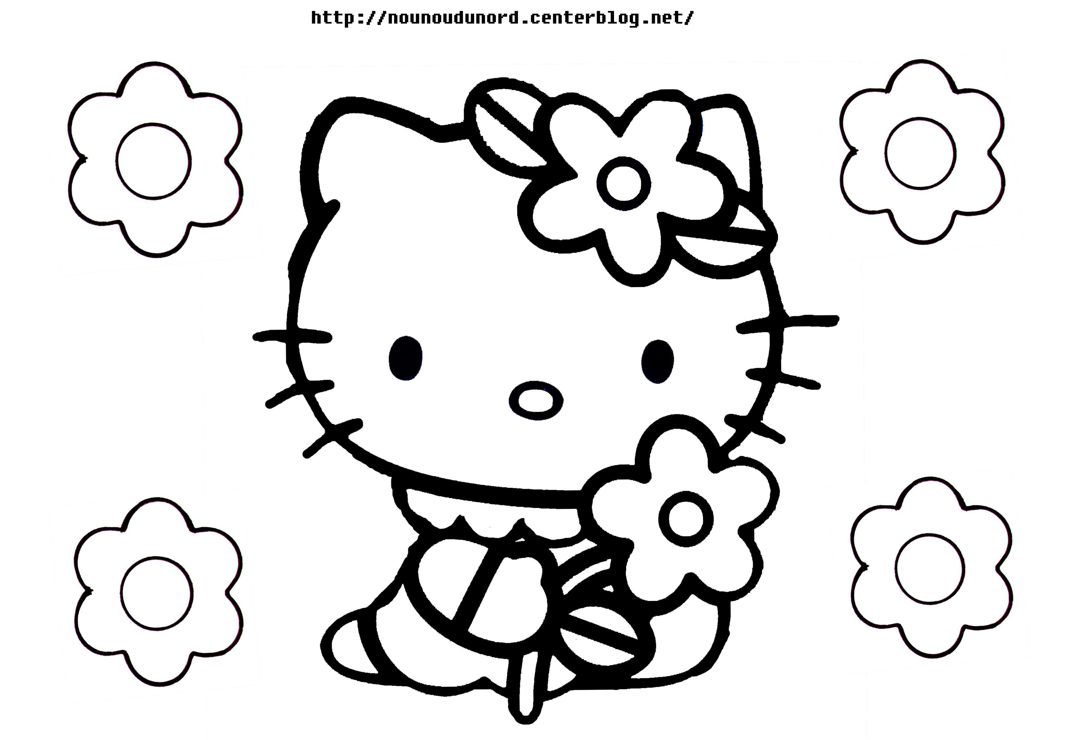 Coloriage hello kitty gratuit - dessin a imprimer #22
