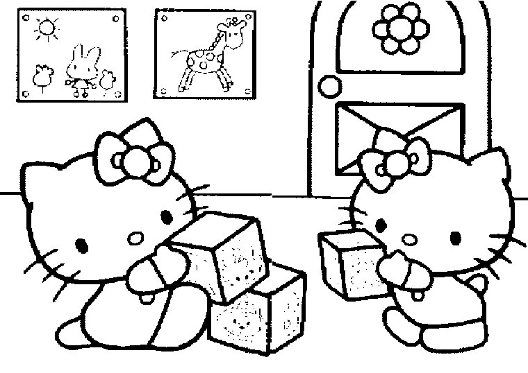 147 dessins de coloriage hello kitty imprimer sur page 6 - Kitty noel coloriage ...