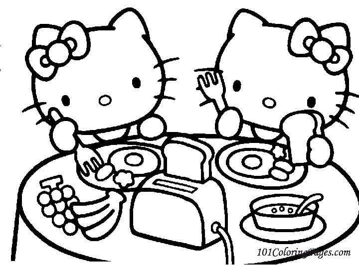 Coloriage hello kitty gratuit - dessin a imprimer #226
