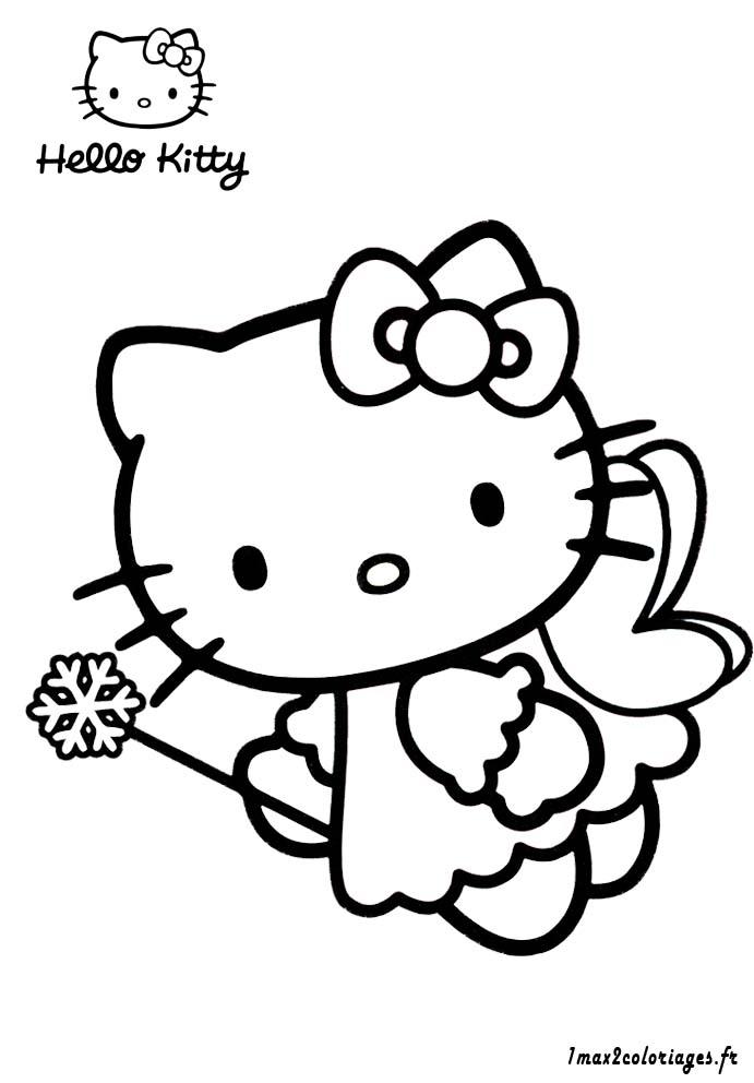Coloriage hello kitty gratuit - dessin a imprimer #228