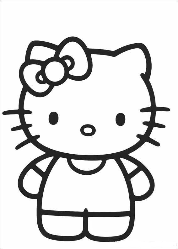 Coloriage hello kitty gratuit - dessin a imprimer #23