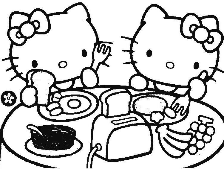 Coloriage hello kitty gratuit - dessin a imprimer #231