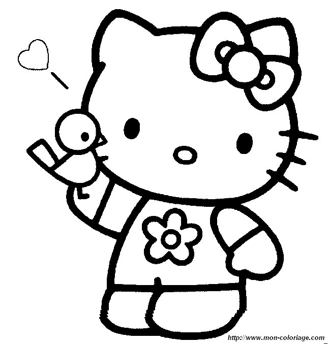 Coloriage hello kitty gratuit - dessin a imprimer #236