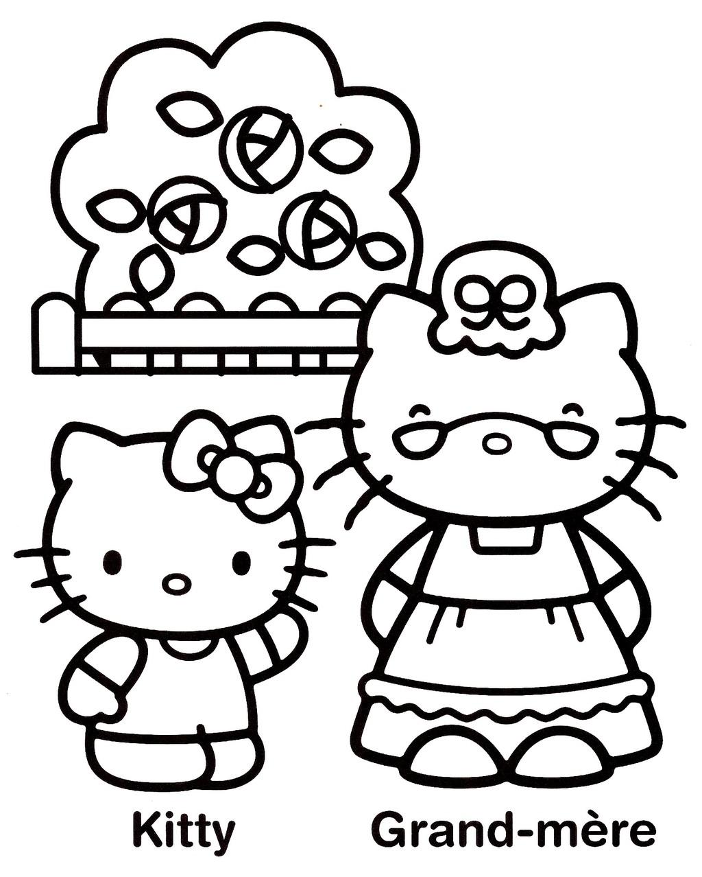Coloriage hello kitty gratuit - dessin a imprimer #238