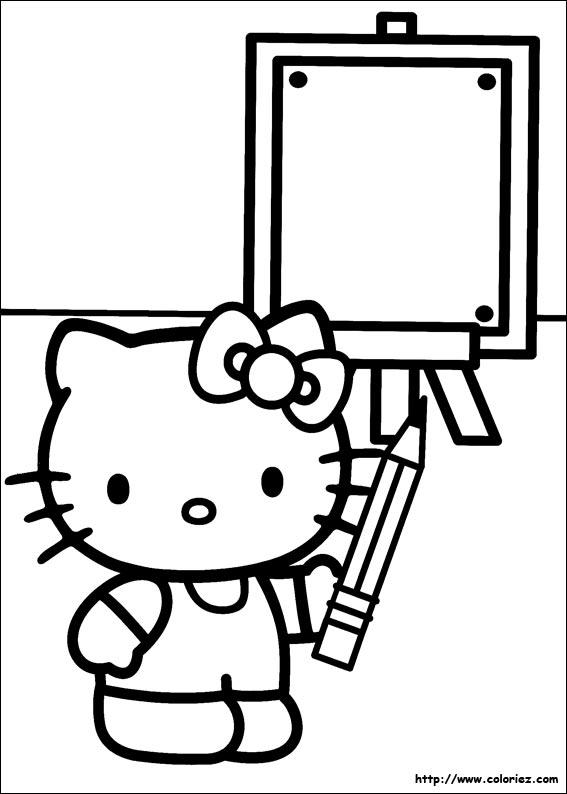 Coloriage hello kitty gratuit - dessin a imprimer #241
