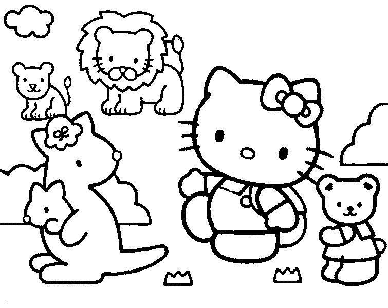 Coloriage hello kitty gratuit - dessin a imprimer #243