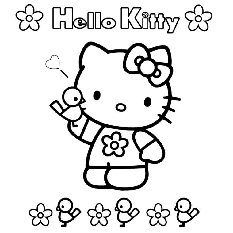 Coloriage hello kitty gratuit - dessin a imprimer #248