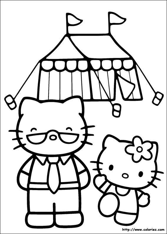 Coloriage hello kitty gratuit - dessin a imprimer #250