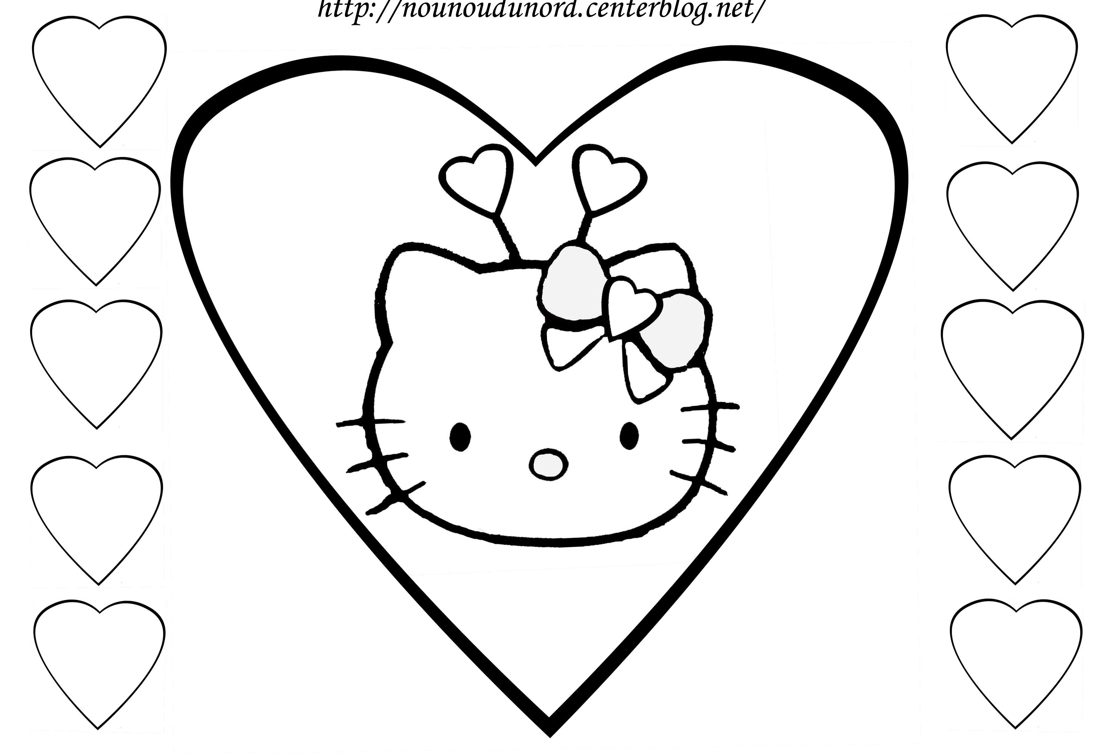 Coloriage hello kitty gratuit - dessin a imprimer #26