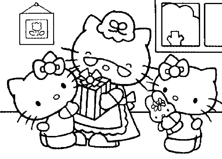 147 dessins de coloriage hello kitty imprimer sur page 8 - Kitty noel coloriage ...