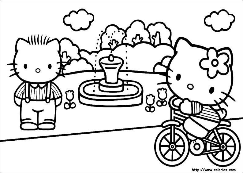 Coloriage hello kitty gratuit - dessin a imprimer #269